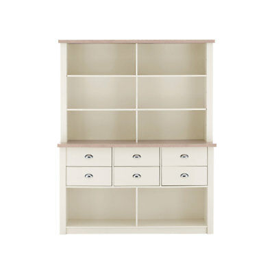 St Ives Dresser Cabinet Oak Veneer with White Honeycomb Board & Particle Board