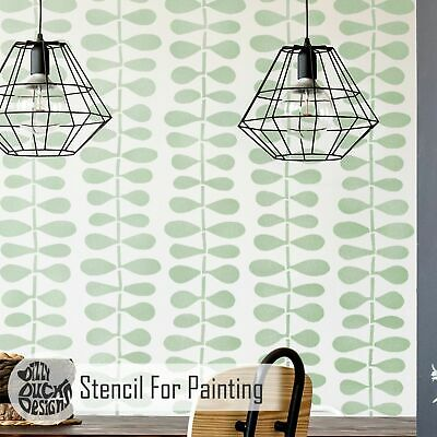 BODEN Modern Scandinavian Furniture Wall Floor Stencil for Paint