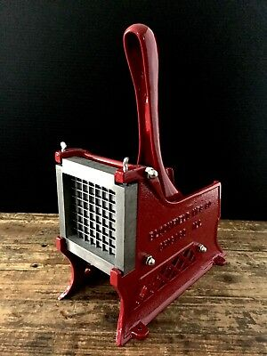 Bloomfield Mfg. Co. Chicago Ill. Antique French Fry Cutter  8X8  3/8 Fries