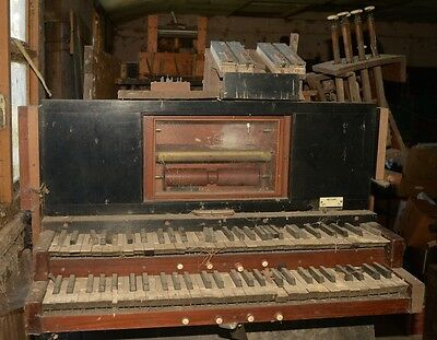 Antique player paper-role pipe organ with 2 manuals - viewing essential