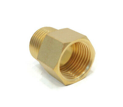 """1/2"""" MALE NPT x 1/2"""" FEMALE NPT THREADED ADAPTER for Anderson Metals 56120-0808"""