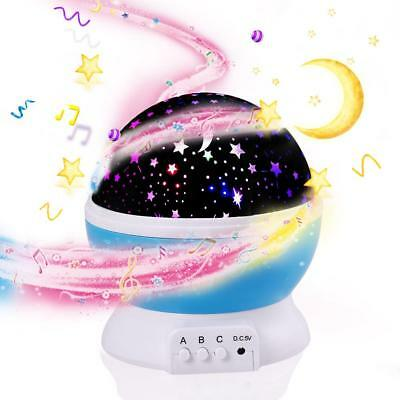 Sleep Night Light Baby Aid Sound Star Machine Led Shusher Kid Projector Soother