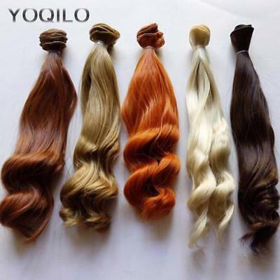 5PCS/LOT BJD Hair Curly 25CM Synthetic Hair For Doll