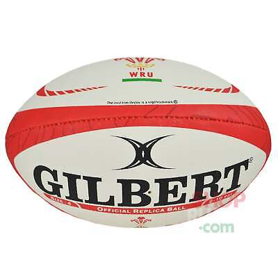 Gilbert Wales WRU 2017 Replica Rugby Ball -  White and Red