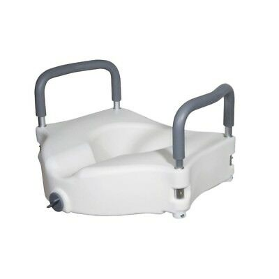Elevated Design Raised Toilet Seat with Removable Padded Arms and Lacking Device