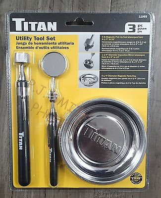 New Titan Set Includes Magnetic Part Tray & Pick up Tool & Inpection Mirror