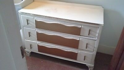 3 Drawer Art Deco Chest of Drawers - Ideal Upcycling project