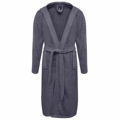 vidaXL 500 g/m² Unisex Terry Bathrobe 100% Cotton Anthracite L Dressing Gown
