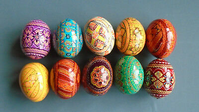 10 Painted Wooden Ukrainian Pysanka / Easter eggs / Pysanky #3