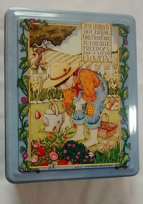 Mary Engelbreit Metal Tin Garden Hans Christian Anderson Quote
