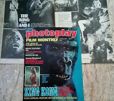 REVISTA 2x1 mags KING KONG MAGAZINE photoplay rare 1977 Jessica Lange making of