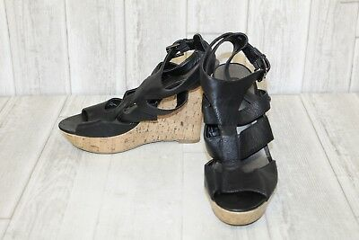 8d03377a6 G BY GUESS Dodge Platform Wedge Sandals Women's Shoes Black Size 6,5 ...