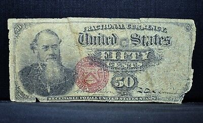 50C Fractional Currency ✪ Vg Very Good ✪ 4Th Issue Cent Stanton L@@k ◢Trusted◣