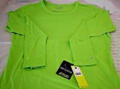 Med Couture Activate Women's Performance Long Sleeve T-Shirt XL Neon Green