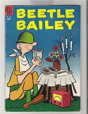 FOUR COLOR #622 (VG) Beetle Bailey #4 series GI Humor Mort Walker 1955 Dell n119