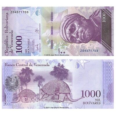 Venezuela 1000 Bolivares 2017 Replacement P-New Banknotes UNC