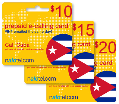 cheap international calling card for cuba with emailed pin - Cuba Calling Card