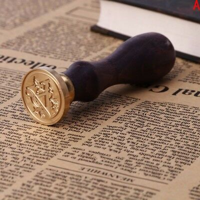 PRO Sealing Wax Classic Initial Wax Seal Stamp Alphabet Letter Retro Wood  COP