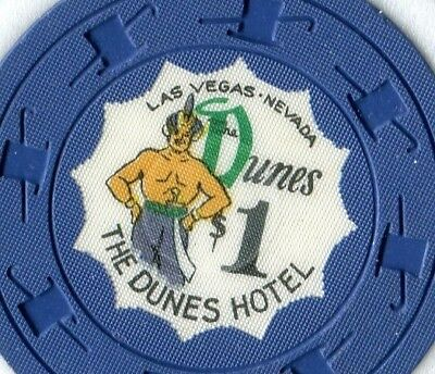 """$$ OLD 1950s DUNES $1 VEGAS """" Sultan """" NAVY """" The Rare One ! """"  DO YOU HAVE ? SU"""