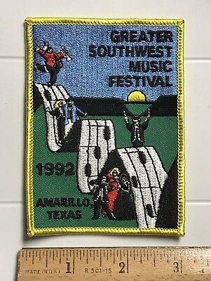 Greater Southwest Music Festival 1992 Amarillo Texas TX Embroidered Patch