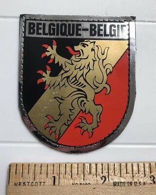Belgique Belgie BELGIUM Belgian Lion Crest Coat of Arms Metallic Sewn Felt Patch