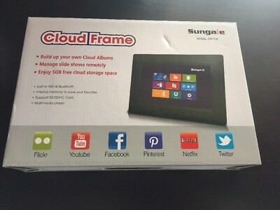 Sungale 7 Inch WiFi Cloud Digital Photo Frame with Touch Panel, Free Cloud IPS