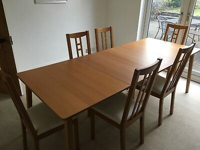Brilliant Ikea Beech Extendable Dining Table With 6 Chairs Seats 6 8 Pdpeps Interior Chair Design Pdpepsorg