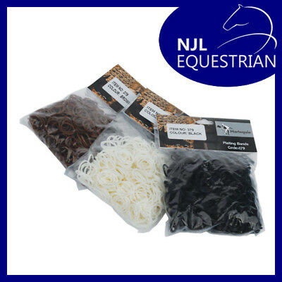 Harlequin Plaiting Bands - Black Brown White - Horse Pony Showing Equestrian
