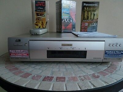 "S-VHS - ""JVC HR-S 9700 "" - Super-VHS Video Recorder -- TBC cassette Panasonic"