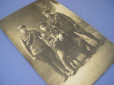 WWI 1915 CEF RPPC - REAL PHOTO POSTCARD - FARRIERS with CAT MASCOT - RATTER !