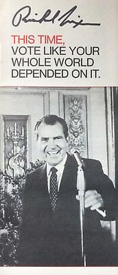 Richard Nixon AUTHENTIC HAND SIGNED Original Campaign Brochure President