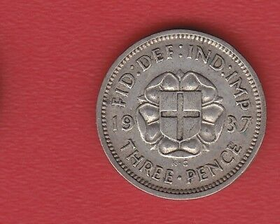 Great Britain 3 Pence 1937 Silver