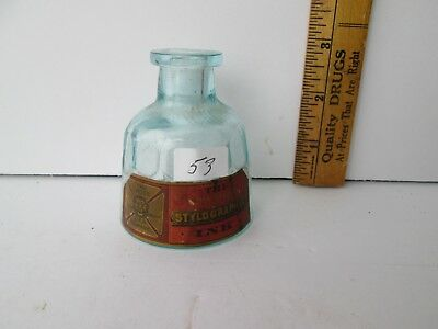Antique Labeled Ink Bottle
