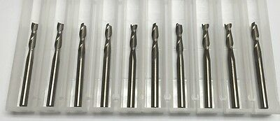 "NEW 1/8"" 0.125"" 2 flute square end carbide end mill Made in the USA 10-pack"