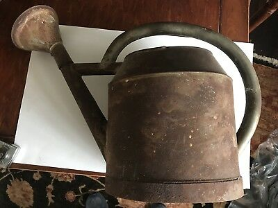Antique 8 QTS  (?) Water Watering Can - True Primitive Vintage