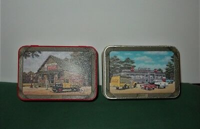 Lot Of 2 Coca Cola Collectible Tins Grocery Store & 50's 60's Diner