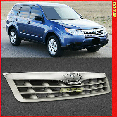 Front Upper Grille Assembly for Subaru Forester 2006-2008 Base Model Grey Silver