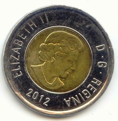 Canada 2012 Toonie Canadian $2 Dollars Twonie Toony Two Dollar Bear EXACT COIN