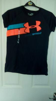Bnwt Lovely Girls Under Armour Charcoal T Shirt