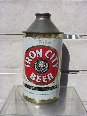 TOUGH Iron City Cone top beer can    EXC condition  Pittsburgh Pa