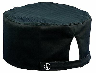 Chef Works Mens Cool Vent Chef  Beanie, Black, One Size