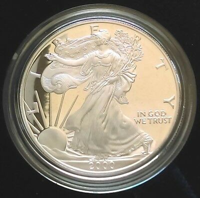 2000-P American Silver Eagle (1oz) Proof Coin with COA