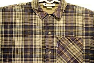 Vintage Columbia Plaid Button Down Long Sleeve Shirt Mens SIZED Large