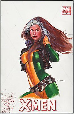 X-Men #1 blank variant cover with Rogue sketch by Dave Dorman
