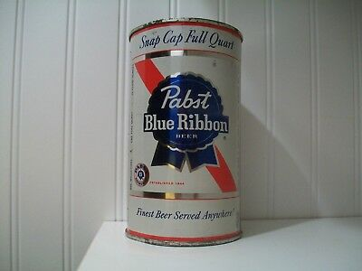 Pabst Blue Ribbon Quart Cone Top Beer Can Not Flat Top Milwaukee Brewery
