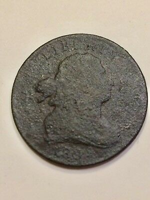 1800's Draped Bust Half Cent. Metal detecting find. 1/200