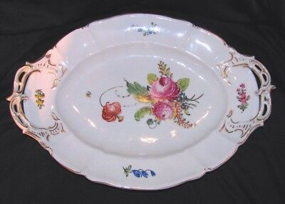 Antique Hand Painted Porcelain Serving Tray Circa 1825