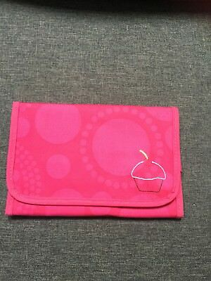 Thirty One - Fold And Go Organizer PINK CIRCLE SPIRALS 068G - NEW,ORIGINAL: SALE