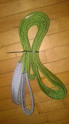 3M x 60MM SWL 2000KG DUPLEX FLAT SLING Lifting Hoist Machine Shop Strap