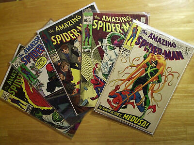 Silver age Amazing Spider-Man 5 book lot